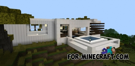 Vacation House map for Minecraft PE 0.11.X