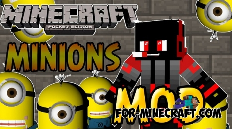 Minions mod for Minecraft PE 0.11.1 / 0.11.0