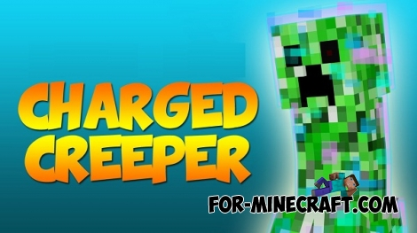 Charged Creeper addon for Minecraft PE 0.12.1