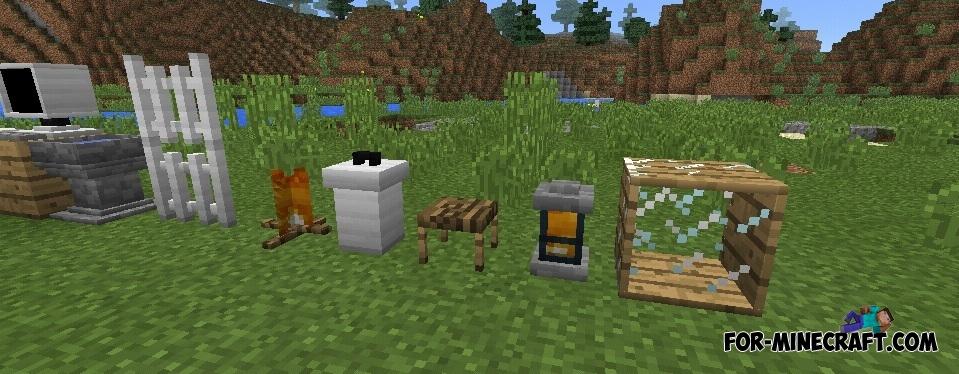 Minecraft Furniture furniture mod for minecraft pe 0.12.1/0.14.0/0.14.1