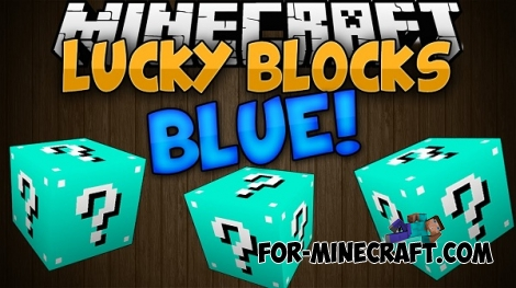 Blue Lucky Block mod for Minecraft PE 0.12.1