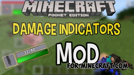 Damage indicators mod for MCPE 0.12.1