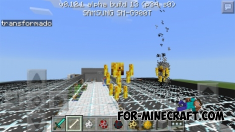 Transformador de Mob mod for Minecraft PE 0.12.1