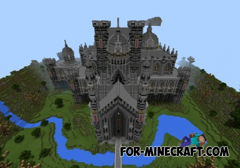 Gothic Castle map for Minecraft PE 0.12.1