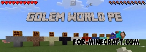 Golem World PE mod v7 for MCPE 0.17.0 / 1.0.0