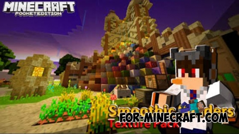 Smoothic texture for Minecraft Pocket Edition 0.11.0 / 0.11.1 / 0.12.1