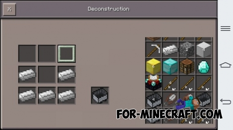 Deconstruction mod for Minecraft PE 0.12.1