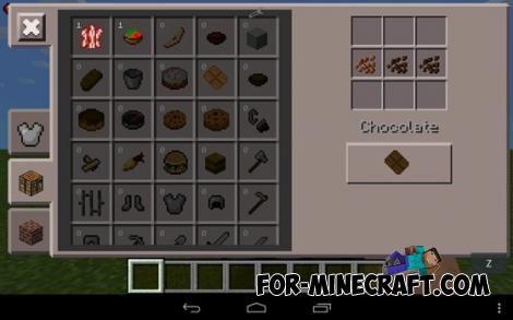 Mo'Food mod for Minecraft PE 0.12.1