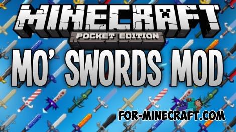 Mo'Swords mod for Minecraft PE 0.12/0.13/0.14.0