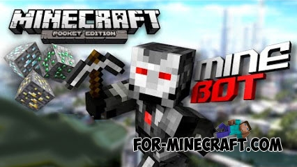 MineBot mod for Minecraft PE 0.12.1