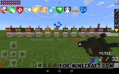 ZomWar mod for Minecraft PE 0.12.1