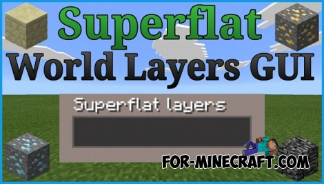 FlatLayer Gui mod for Minecraft PE 0.12.1