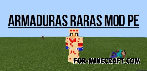 Armaduras Raras mod for Minecraft PE 0.12.X