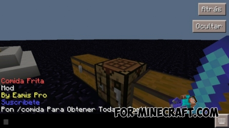 Fried foods / Comida Frita mod for Minecraft PE 0.12.2