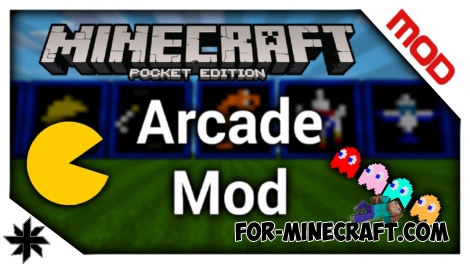 Arcade mod for Minecraft PE 0.12.X