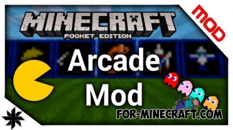 Arcade mod for Minecraft PE 0.12.X