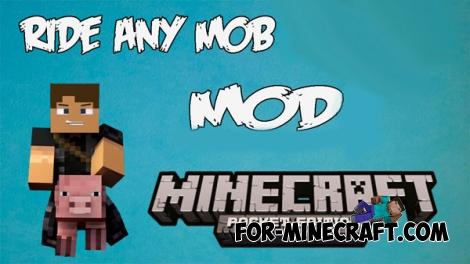 Ride Any Mob mod for Minecraft PE 0.12.1 / 0.12.2