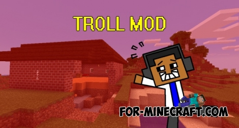 TROLL MOD for Minecraft PE 0.12.1 / 0.12.2