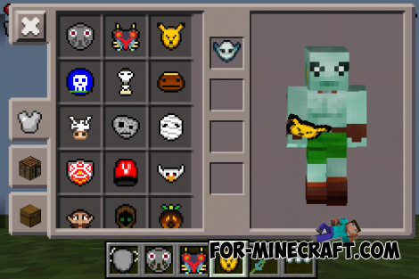 Majora's Mask / Zelda mask mod for Minecraft PE 0.12.X