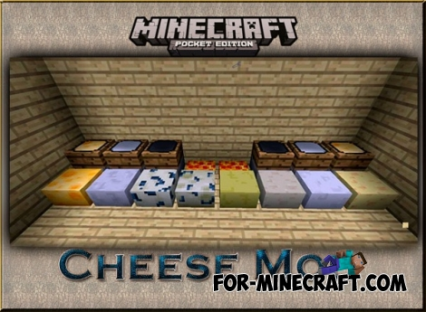 Cheese Mod v2.0 for Minecraft PE 0.12.X