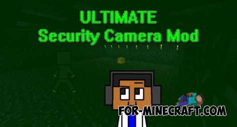 Ultimate Security Camera mod for Minecraft PE 0.12.1/0.12.2