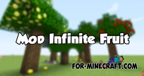 Infinite fruit mod for Minecraft PE 0.13.0