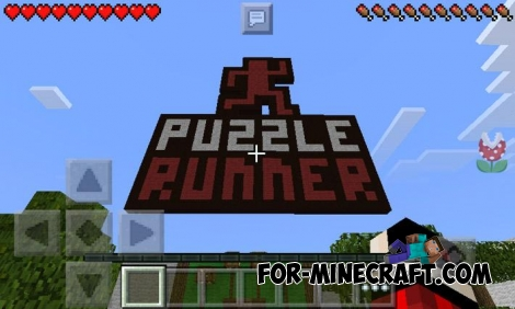 Puzzle Runner map for MCPE 0.13.0