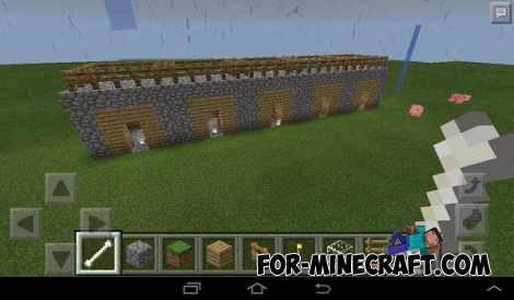 Mini-house in 5 seconds mod for MCPE 0.12.0/0.13.0