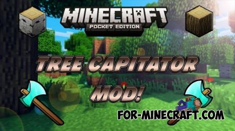 TreeCapitator mod for MCPE 0.13/0.14.0