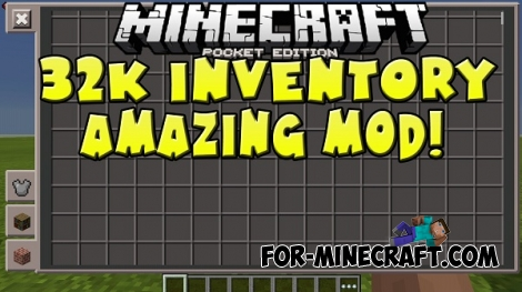 More Inventory Slots mod for MCPE 0.13.0