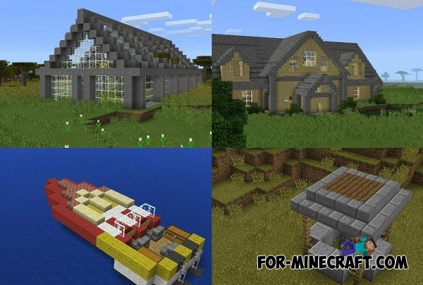 Insta house mod v 8 0 for minecraft pe for Modern house minecraft pe 0 12 1