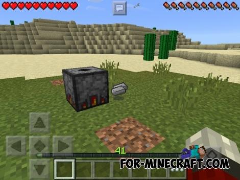 Vanilla Foundry mod for Minecraft PE 0.13.X