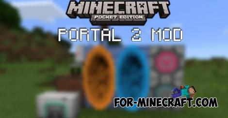Portal 2 mod r015 for Minecraft PE 1.0/0.17.0