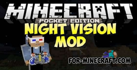 Night Vision Mod for Minecraft PE 0.13