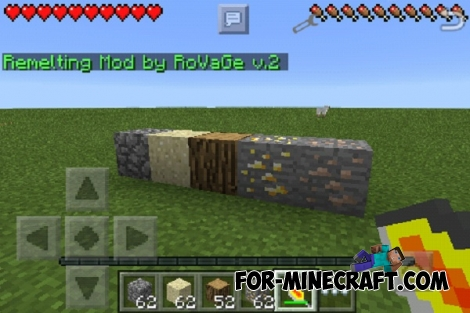 Remelting Mod for Minecraft PE 0.13.0/0.13.1