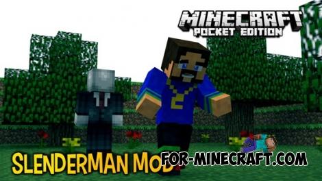 Slender Man mod for Minecraft Pocket Edition 0.13
