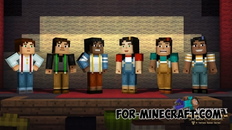 Minecraft: Story Mode skin pack for MCPE 0.14.0