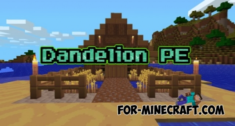 Dandelion PE texture for Minecraft PE 0.14/0.16/0.17.0