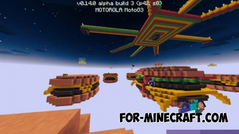 SkyWars Hamburgers map for MCPE 0.14.0