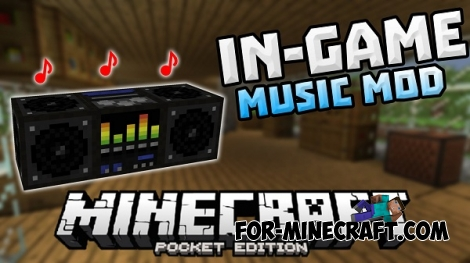 In-Game Music mod for Minecraft PE 0.14.0