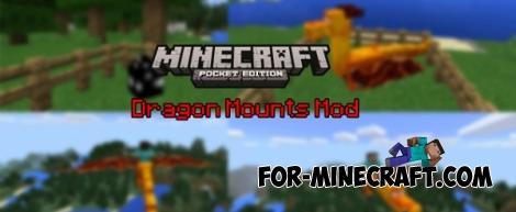 Dragon Mounts Mod [Minecraft PE 0.14.0/0.14.1/0.14.2/0.15.2]