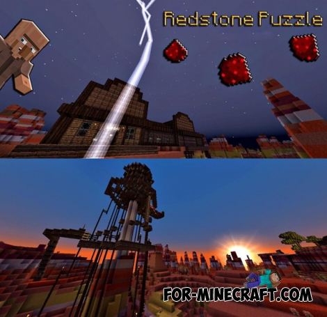 Redstone Puzzle (Mojang map) for MCPE 0.14.0