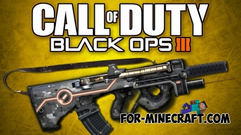 Black Ops 3 Weapons mod for MCPE 0.14.0/0.14.1/0.14.2