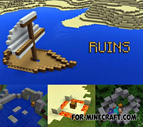 Ruins mod for Minecraft Pocket Edition 0.13.0/0.14.2
