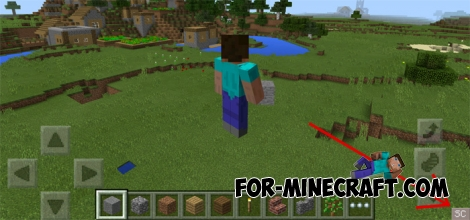 Simple Commands Buttons mod for Minecraft PE 1.2