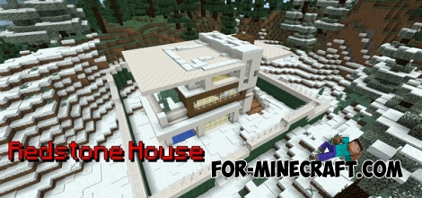 Redstone House map for MCPE 0.14.0