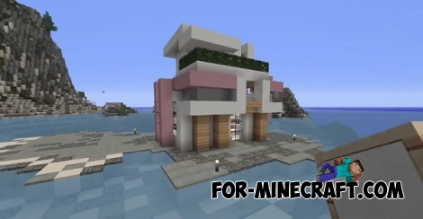 modern house map for mcpe
