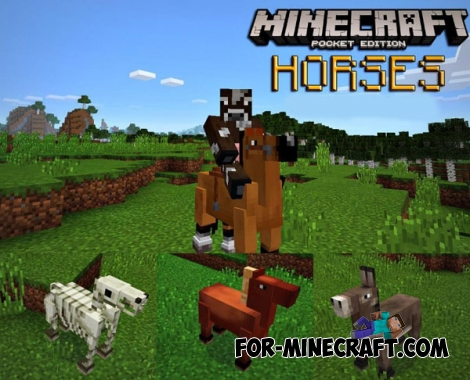 Horses mod v6.0 for Minecraft PE 0.14.0