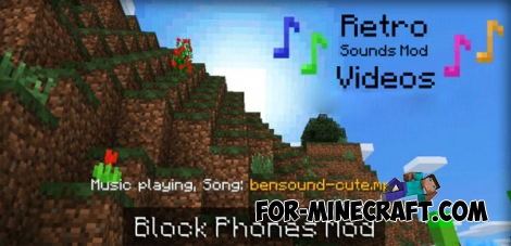 Blockphones Mod for Minecraft PE 0.14.0