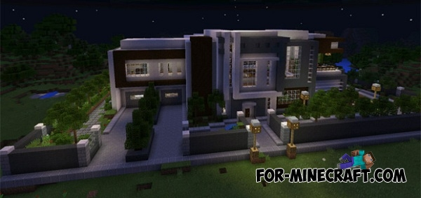 Modern mansion map for mcpe for Modern house mcpe 0 14 0